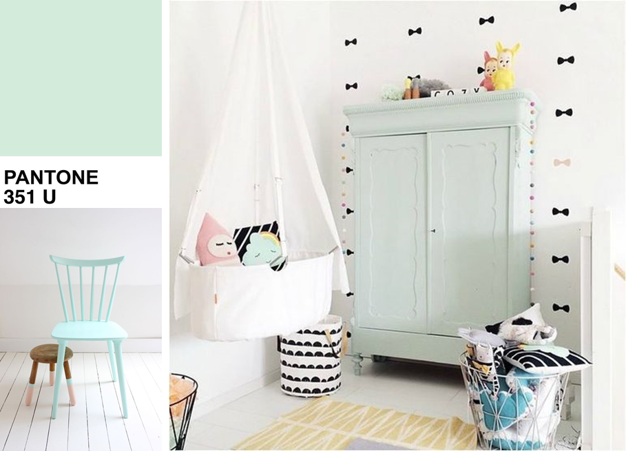 Chambre b b mint inspiration et s lection shopping summer for Inspiration couleur chambre